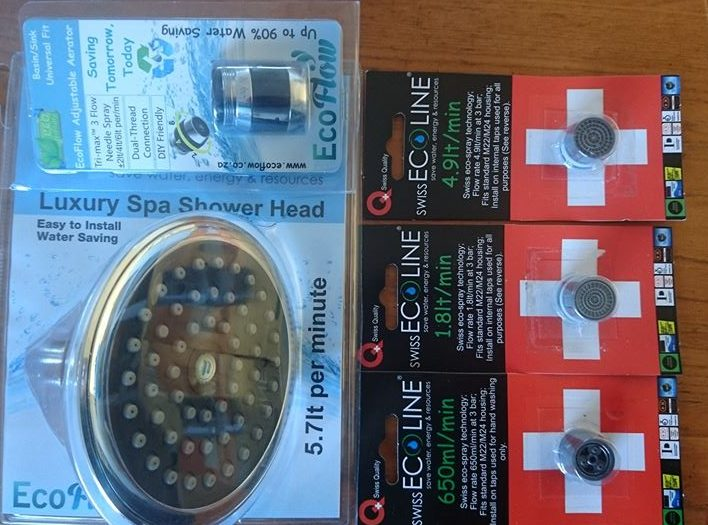 Water Saving Taps, Shower Heads and Urinals