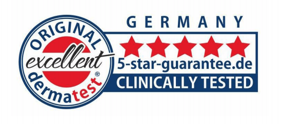 Germany 5 Star Guaranteed Clinically Tested Dermatest